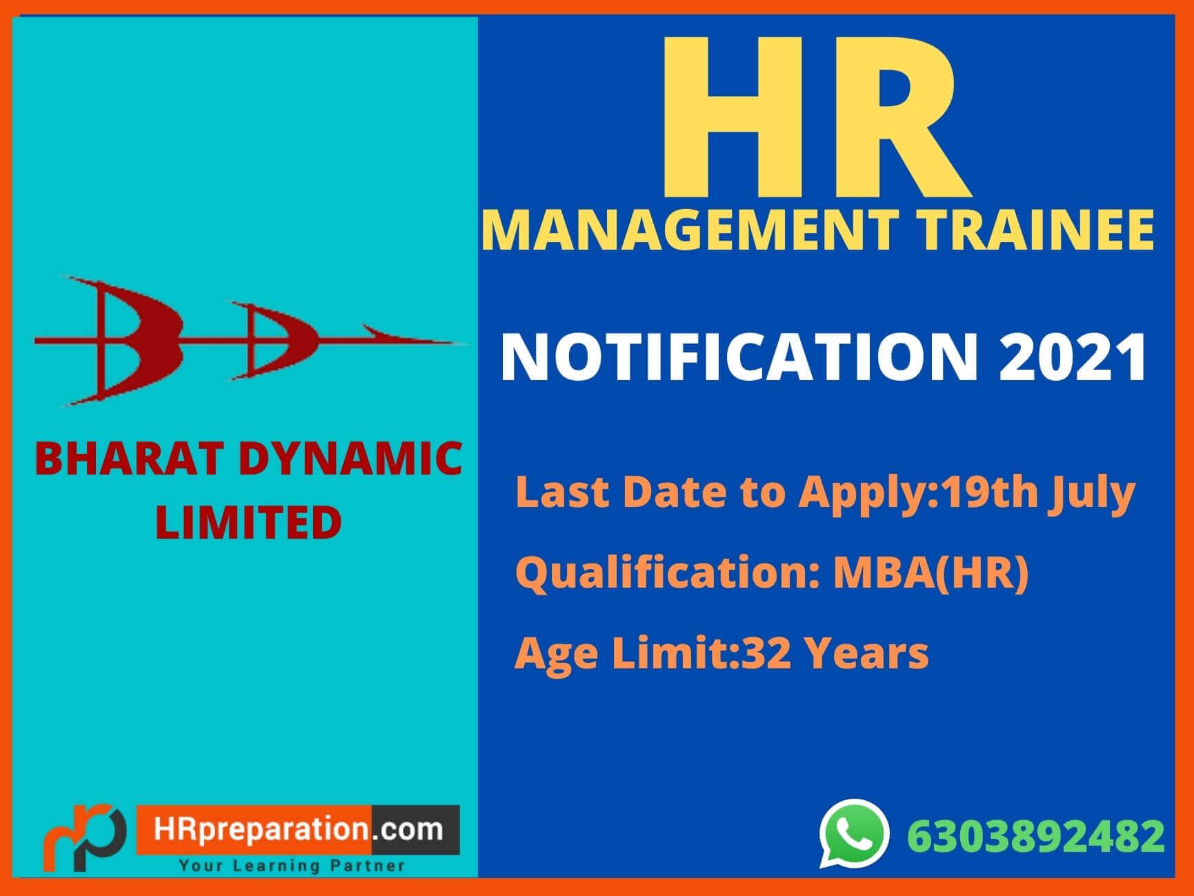 bdl manangement trainee hr notification 2021,bdl hr mt recruitment notification2021